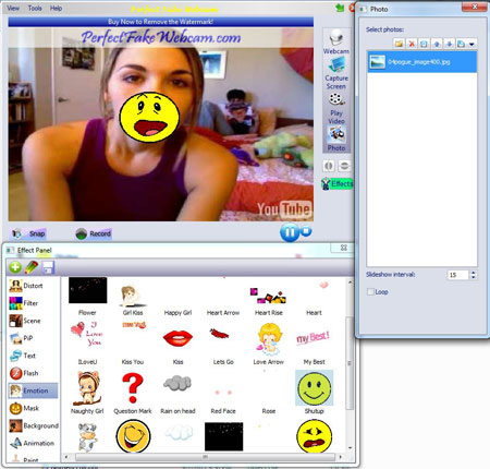 Perfect Fake Webcam Screen shot